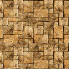 Brown Cubic Stone Pattern Sheet Maquette