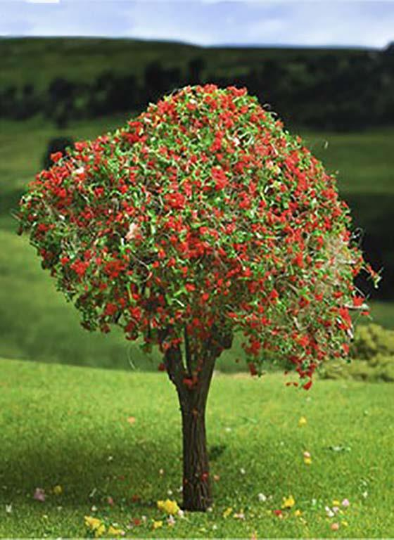 Tree with Red Blossoms Maquette